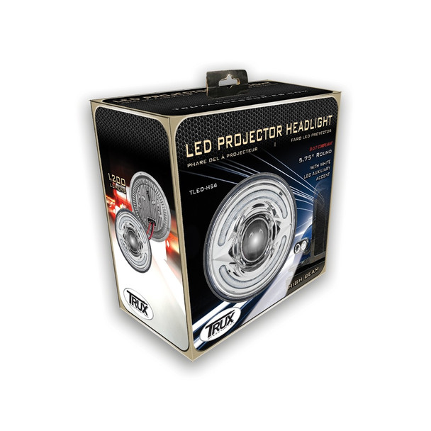 """5.75"""" Standard LED Projector Headlight with White Auxiliary Accent (1400 Lumens)"""