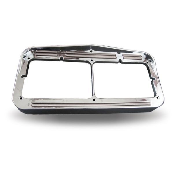 Universal Rectangular Flatline Headlight Bezel - Amber