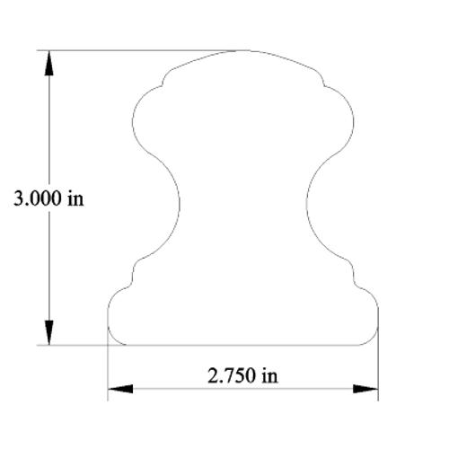 "Provincial Series Handrail (2-3/4"" x 3"")"
