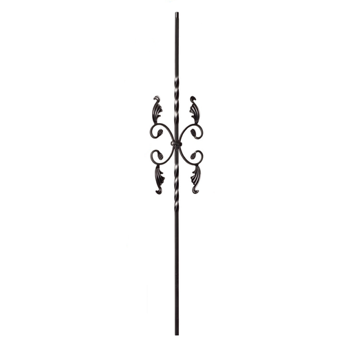 scrolls iron balusters