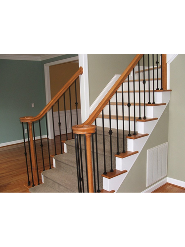 lighted wood newel post from lighted landings