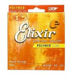 Elixir  Polyweb Med. 5 String banjo 11650