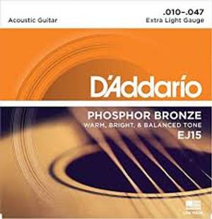 Daddario Acoustic Phosphor Bronze Extra Light (.010-.047)