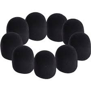 On Stage Foam Microphone Windscreens (Black 9 Pack)