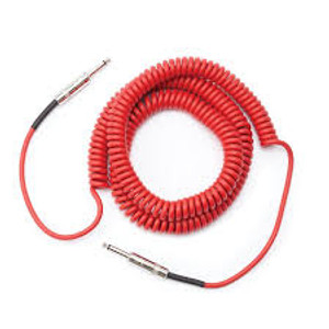 Daddario Coiled Cable Red
