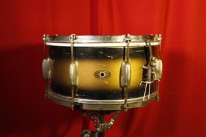 1955 Slingerland Black & Gold 14X6 Snare (Used)