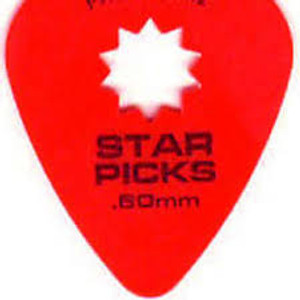 Star Pick .50 Red Thin