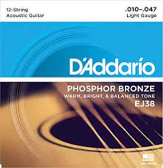 Daddario Phosphor Bronze Light 12-string EJ38 (10-47)