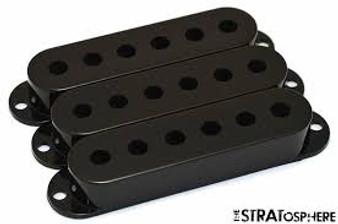 Fender Pickup Strat Covers 3 pack (Black)