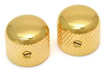All Parts Gold Dome Knobs