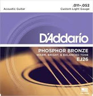 Daddario Acoustic Phosphor Bronze Custom Light (.011-.052)