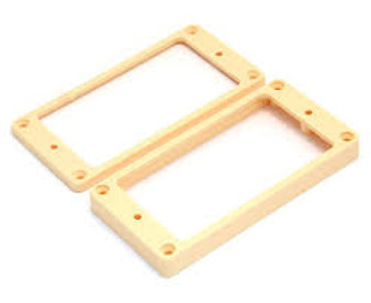PC 0745 028 Humbucking Rings Flat (Cream)