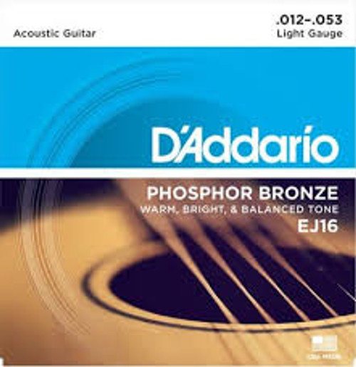 Daddario EJ16 12-53 Acoustic Strings
