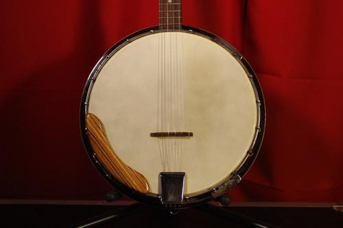 Vintage Perles Tenor Banjo w/ Chipboard Case (Used)