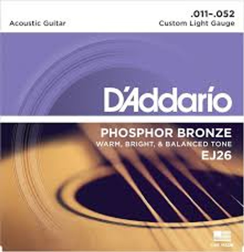 Daddario Acoustic Phosphor Bronze Custom Light (.011-.052)