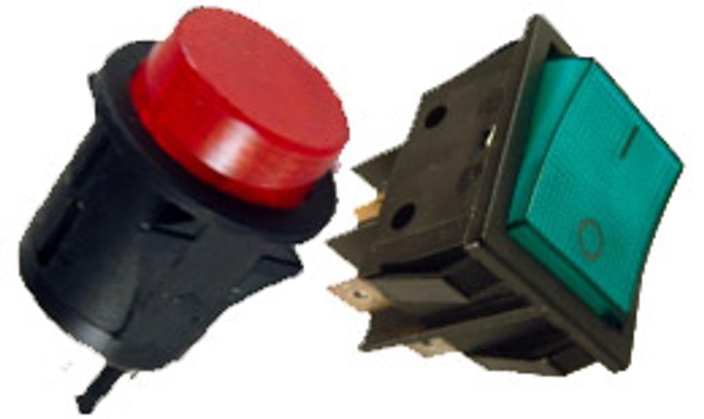 Four Pole Switches (Push Button & Rocker)