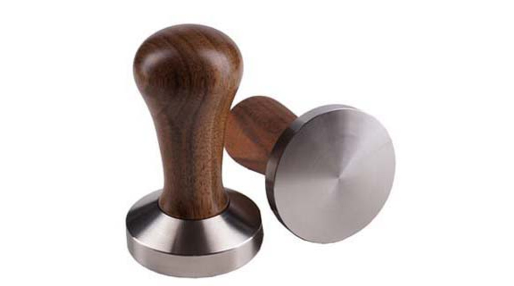 coffee tamper, walnut handle