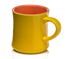 Yellow coffee mug
