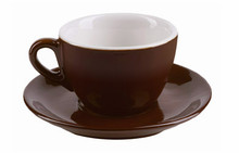 IPA dark brown aoste cappuccino cups