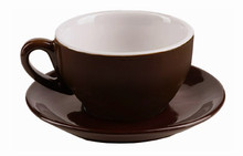 IPA dark brown cappuccino cup