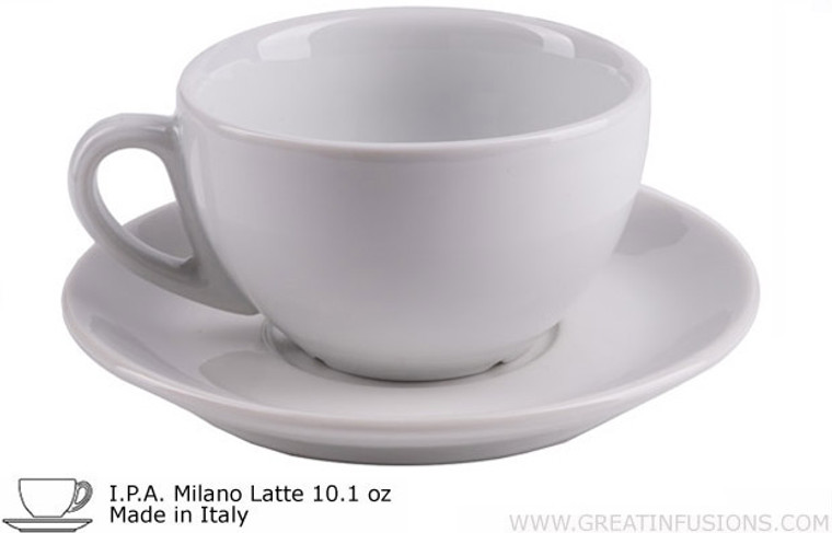 I.P.A. White Latte Cups