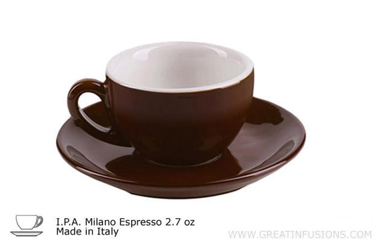 Dark Brown Espresso Cup