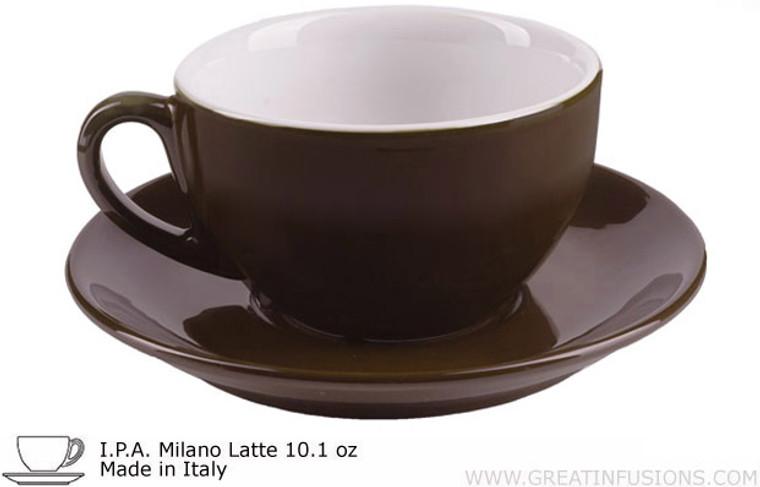 Dark Brown Latte Cups