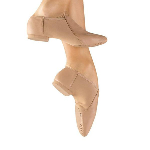 So Danca JZ43 Black Adult Size 12 Medium Leather Slip On Jazz Shoe