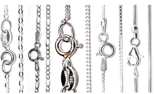 SALE! - Selection Pack of Sterling Silver Chains (x5)