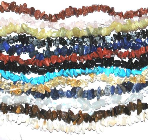 SALE! - Glass Gem Chipstone Beads