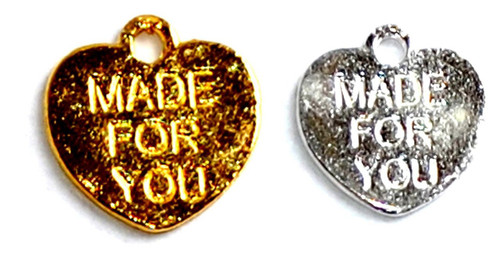 """""""Made For You"""" Heart Charms"""
