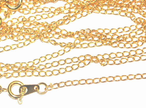 x100 Gold Plated Curb Chains - 20inch