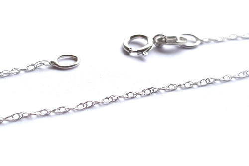 9ct White Gold Prince of Wales Chain - 0.8mm