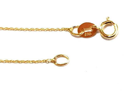 9ct Gold Anchor Trace Chain - 0.8mm