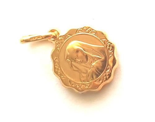 9ct Gold Virgin Mary Medallion Charm