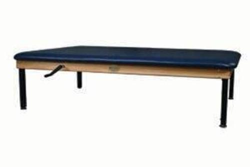 Dynatronics Premium Oak Hi-Lo Manual Crank-Adjust Mat Table