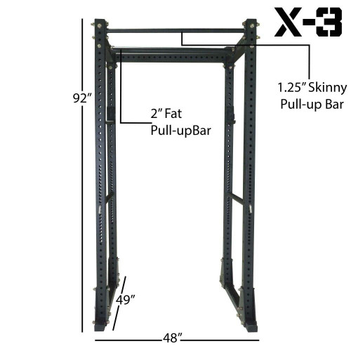 Titan Fitness X-3 Flat Foot Power Cage Squat Stand