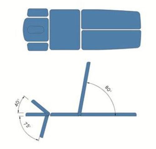 Hausmann Titan 6 Section Split Leg Table