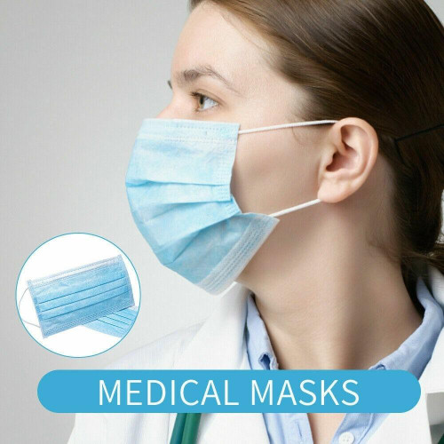 SourceMed 3 Ply Face Mask Medical-Surgical Level 1
