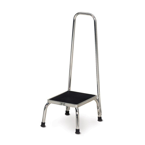 Clinton Industries Chrome Step Stool with Hand Rail