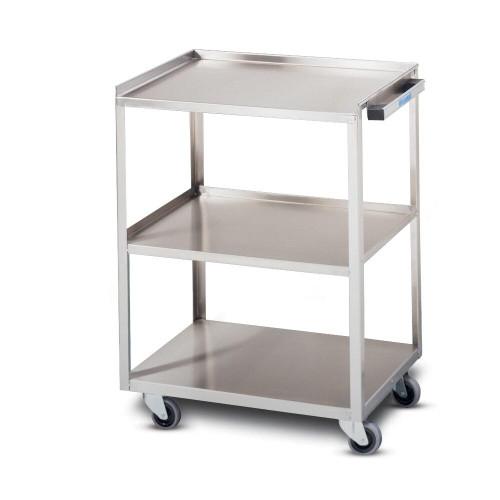 Whitehall Whitehall 3 Shelf Stainless Steel Utility Cart