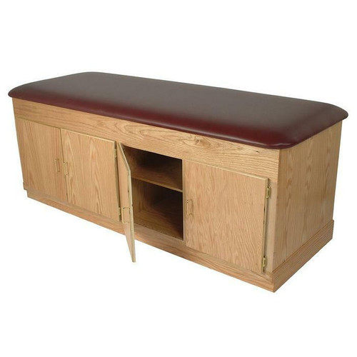 Dynatronics Oak Cabinet Treatment Table