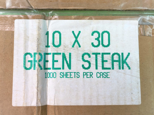 10 X 30 Green Steak Paper