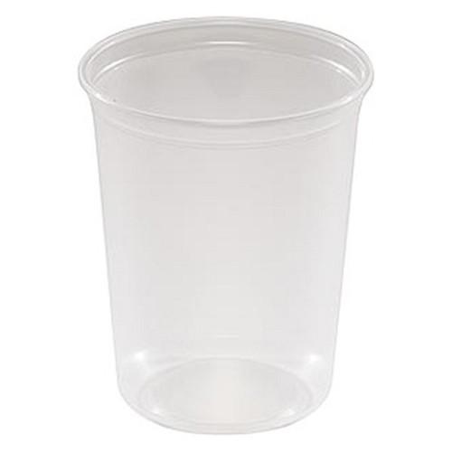 PlasticPak 32-115 Round Deli Container 32 Oz Super Clear