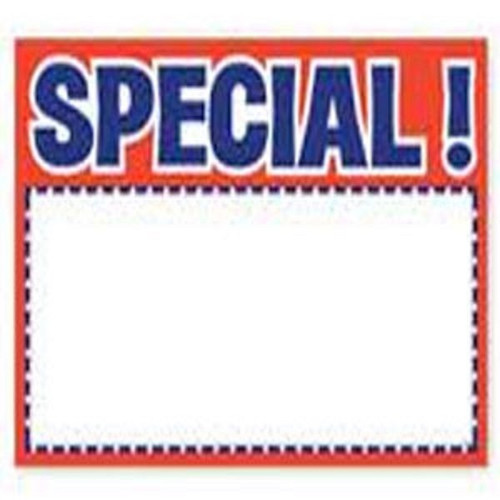 Price Card SPECIAL 5 X 7 RED 100