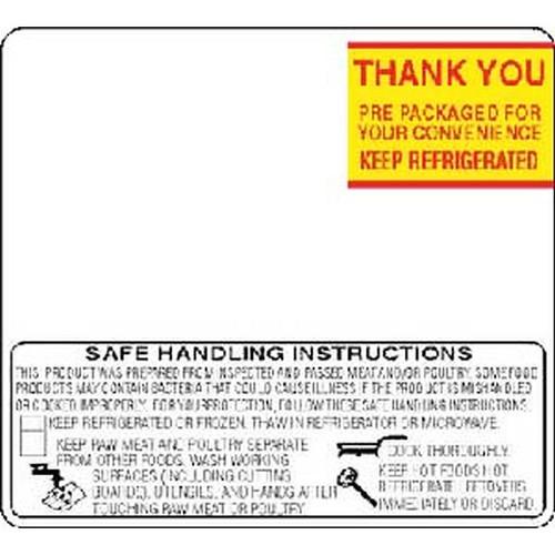 Toledo 325/8460 ET 2.4 Safe Handling Print Scale Label