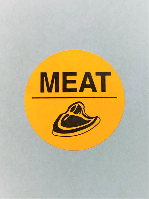 """ MEAT"" Printed Round Sticker Label"