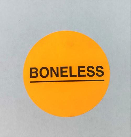 Boneless Printed Round Label Sticker