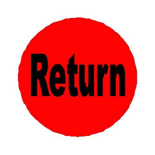 RETURN Orange Round Label