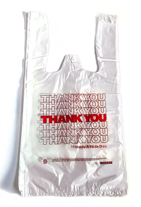 Jumbo Plastic Shopping Bag White Thank You 18 X 8 X 32